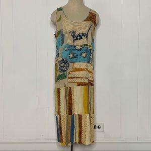 Jams World Sundress Hawaiian Maxi Dress Size XL